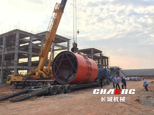 Guangxi Hua Yan 400,000 tons of active lime production line installation.jpg